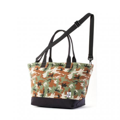 チャムス(CHUMS) キャリートートバッグスウェットナイロン Carry Tote Bag Sweat Nylon CH60-2118-Z048 Booby Camo/Black トートバッグ(Men's、Lady's)