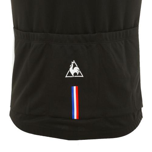 ルコック スポルティフ(Lecoq Sportif) UVソフトメッシュジャージ メンズ 男性用 半袖ジャージ 自転車ウエア QC-741363 BLK ブラック(Men's)