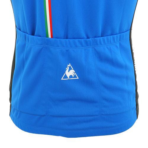ルコック スポルティフ(Lecoq Sportif) ダブルメッシュジャージ メンズ 男性用 半袖ジャージ 自転車ウエア QC-741463 BDL ブルー(Men's)
