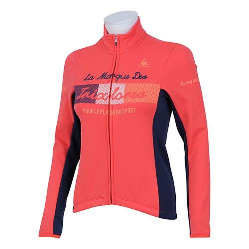 ルコック スポルティフ(Lecoq Sportif) レディストリコロールサーモジャージ レディース 女性 長袖ジャージ 自転車ウエア QC-845663 SCL レッド(Lady's)