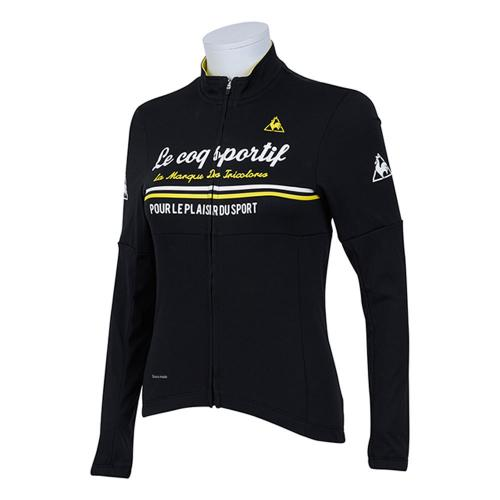 ルコック スポルティフ(Lecoq Sportif) ドゥースモードコンフォートジャージ レディース 女性 長袖ジャージ 自転車ウエア QC-845763 BLK ブラック(Lady's)