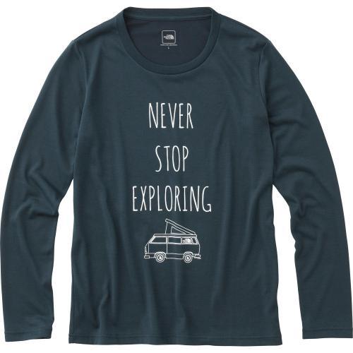 ノースフェイス(THE NORTH FACE) ロングスリーブ ドゥーユアシングティー L/S Do Your Thing Tee NTW81633 UN ウィメンズ 長袖Tシャツ(Lady's)