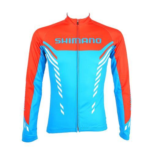 サーマルプリントロングスリーブジャージ メンズ 男性用 サイクリングウェア 自転車ジャージ ECWJSPWPS32MD