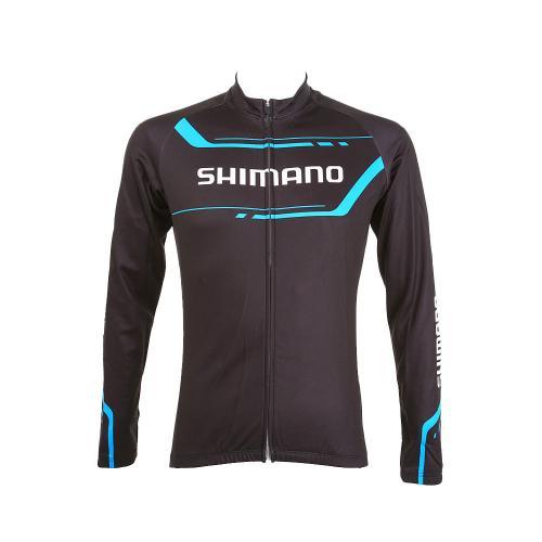 シマノ(SHIMANO) サーマルプリントロングスリーブジャージ メンズ 男性用 サイクリングウェア 自転車ジャージ ECWJSPWPS32MD (Men's)