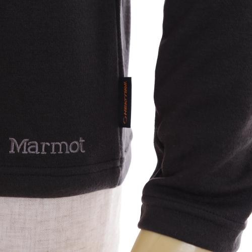 マーモット(Marmot) ヒートナビ ストリートロングスリーブモックネック HEAT NAVI Street LS Mocneck MJK-F5107 BLK メンズ 長袖Tシャツ(Men's)