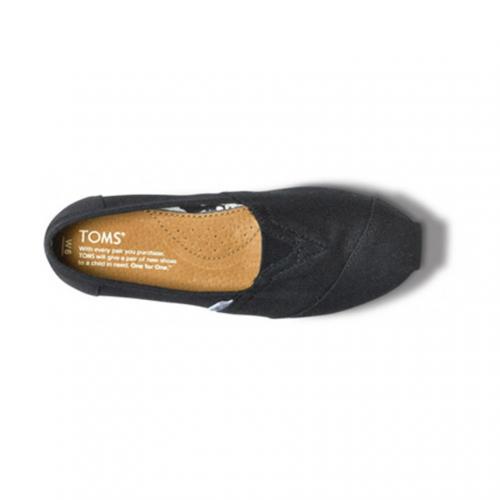 トムス(TOMS) BLACK CANVAS WOMEN'S CLASSICS レディース スリッポン 001001B07(Lady's)