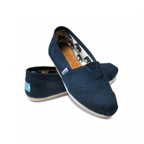 トムス(TOMS) NAVY CANVAS WOMEN'S CLASSICS レディース スリッポン 001001B07(Lady's)