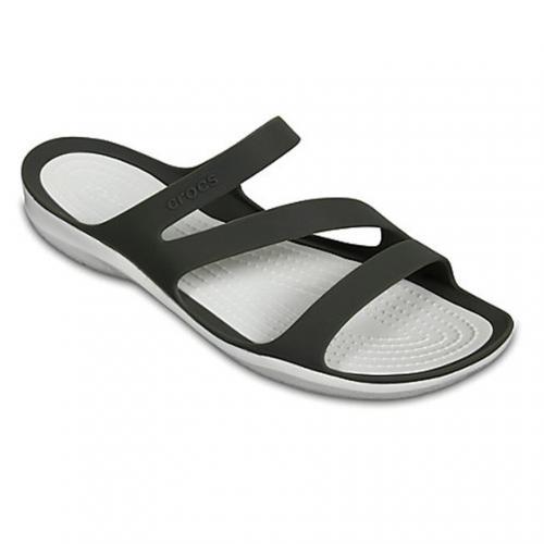 クロックス(crocs) スウィフトウォーター サンダル ウィメン Women's Swiftwater Sandal サンダル 203998 06X Smoke/White(Lady's)