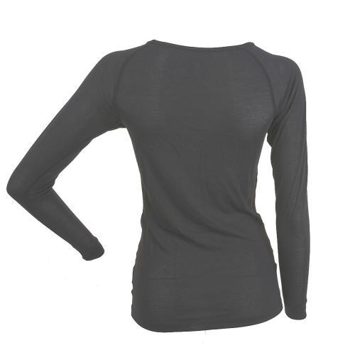 モンベル(mont-bell) ウィメンズ ジオライン (R) L.W ラウンドネックシャツ 1107575 BK サイクルシャツ(Lady's)