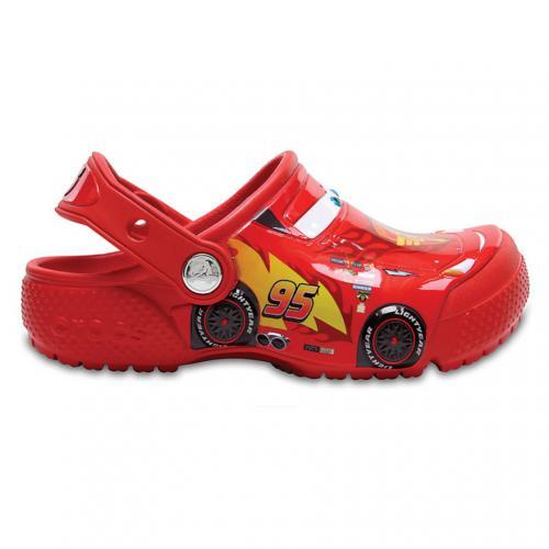 クロックス(crocs) クロックス ファン ラブ カーズ クロッグ キッズ crocs fun lab Cars clog kids 204116-8C1 Flame サンダル(Jr)