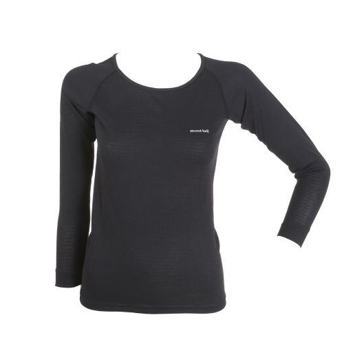 モンベル(mont-bell) ジオラインM.W.ラウンドネックシャツ Women's 1107577 BK ウィメンズ サイクルシャツ(Lady's)
