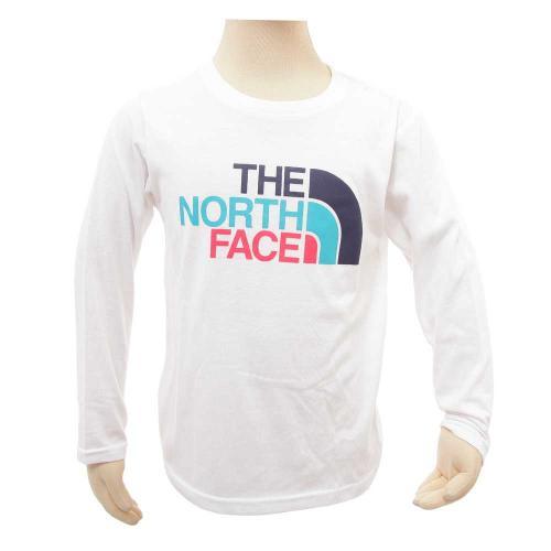 ノースフェイス(THE NORTH FACE) ロングスリーブカラフルロゴティー キッズ L/S Colorful Logo Tee NTJ31708 W 半袖Tシャツ(Jr)