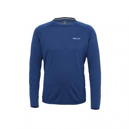 マーモット(Marmot) アセントロングスリーブクルー Accent L/S Crew MJT-S7075 NBLU メンズ 長袖Tシャツ(Men's)
