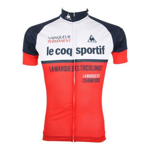 ルコック スポルティフ(Lecoq Sportif) エアリ-ク-ルメッシュジャ-ジ メンズ 男性用 半袖シャツ 自転車ウエア QC-740471 NVY(Men's)