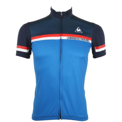 ルコック スポルティフ(Lecoq Sportif) 半袖ジャージ メンズ 男性用 自転車 ウェア QC-741171 NVY(Men's)