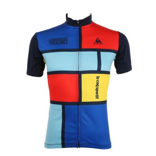 ルコック スポルティフ(Lecoq Sportif) 半袖ジャージ メンズ 男性用 自転車 ウェア QC-741571 NVY(Men's)