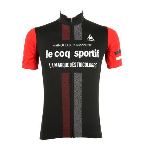 ルコック スポルティフ(Lecoq Sportif) 半袖ジャージ メンズ 男性用 自転車 ウェア QC-741671 BLK(Men's)