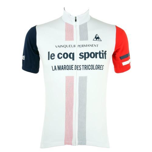 ルコック スポルティフ(Lecoq Sportif) 半袖ジャージ メンズ 男性用 自転車 ウェア QC-741671 WHT(Men's)