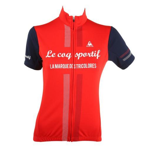 ルコック スポルティフ(Lecoq Sportif) 半袖ジャージ レディース 女性用 自転車 ウェア QC-746471 RED(Lady's)