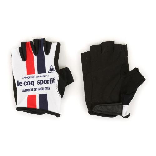 ルコック スポルティフ(Lecoq Sportif) プリントグロ-ブ メンズ レディース 男女兼用 自転車 手袋 QCA712371 WHT(Men's、Lady's)