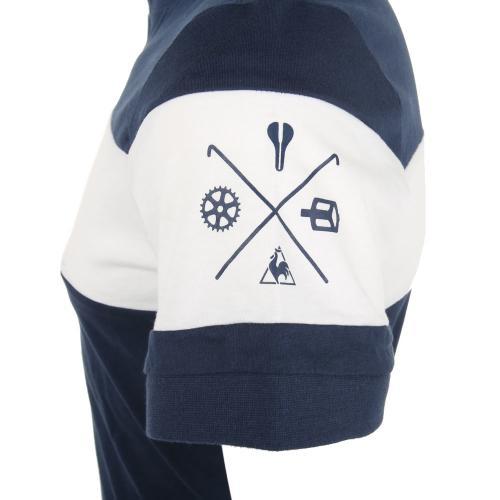 ルコック スポルティフ(Lecoq Sportif) ヴェロヘンリーTee 半袖シャツ メンズ 男性用 自転車 ウェア QCT-010171 NVY(Men's)