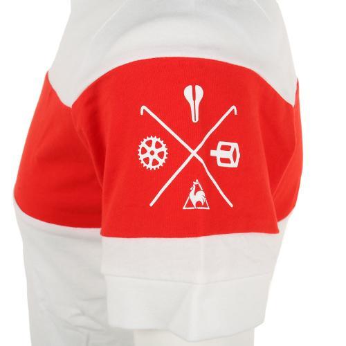 ルコック スポルティフ(Lecoq Sportif) ヴェロヘンリーTee 半袖シャツ メンズ 男性用 自転車 ウェア QCT-010171 WHT(Men's)