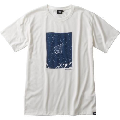 ヘリーハンセン(HELLY HANSEN) ショートスリーブスターサインティー S/S Star Sign Tee HOE61705 W ホワイト ウィメンズ 半袖Tシャツ(Lady's)
