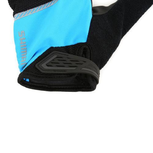 シマノ(SHIMANO) Original ロンググローブ メンズ 男性用 サイクリング ロングフィンガーグローブ 自転車 ECWGLBSPS12Y5 BLACK/BLUE(Men's)