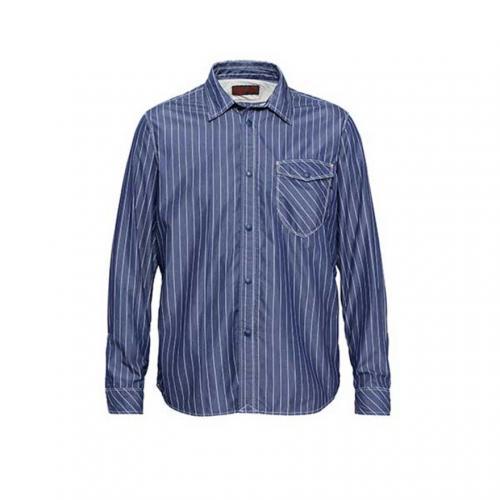 マーモット(Marmot) カトー ストライプロングスリーブシャツ KATO Stripe L/S Shirt MJS-S7052 IND メンズ シャツ(Men's)