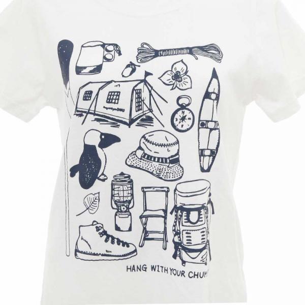 チャムス(CHUMS) キャンプメモリーズTシャツ CH11-1235 W001 White(Lady's)