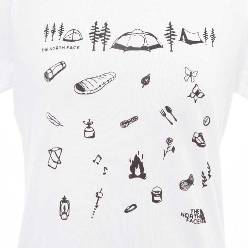 ノースフェイス(THE NORTH FACE) 別注 S/S CAMP LIFE TEE レディース 半袖Tシャツ NTW3703X W(Lady's)
