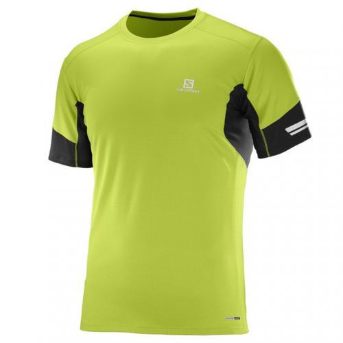 AGILE SS TEE M L39386400 LIME メンズ 半袖Tシャツ
