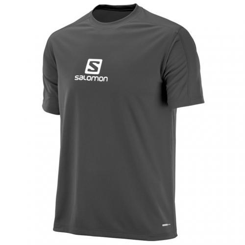 サロモン(SALOMON) STROLL LOGO SS TEE M L39388500 BLACK メンズ 半袖Tシャツ(Men's)