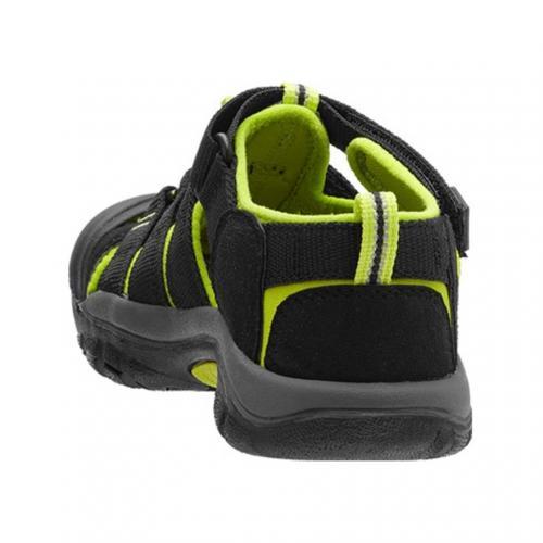 キーン(KEEN) ニューポートH2 キッズ Newport H2 1009942 Black/Lime Green サンダル(Jr)