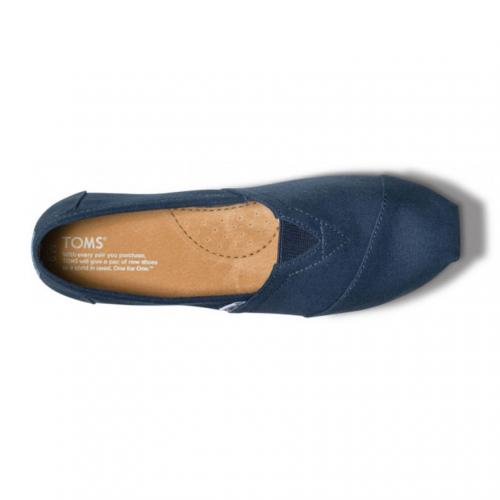 トムス(TOMS) NAVY CANVAS MEN'S CLASSICS メンズ スリッポン 001001A07-NVY(Men's)
