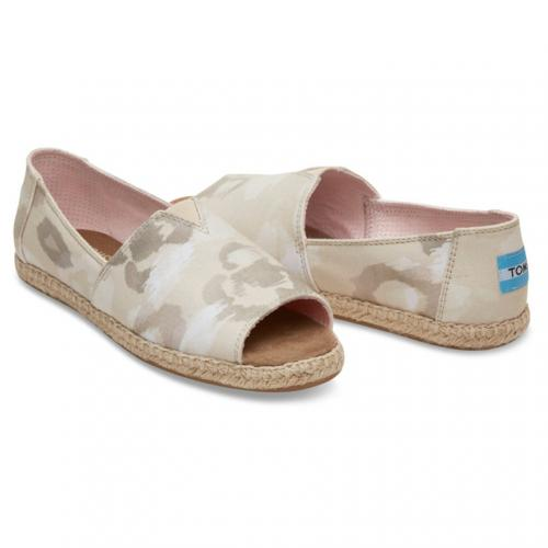 トムス(TOMS) NATURAL WATER COLOR FLORAL WOMEN'S OPEN TOE ALPARGATAS レディース スリッポン 10009844(Lady's)