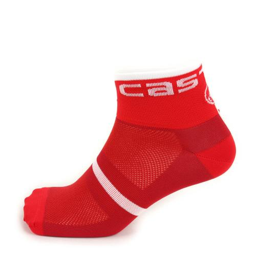 カステリ(Castelli) VELOCISSIMO 6 SOCK3 17041-017 RED ソックス(Men's、Lady's)