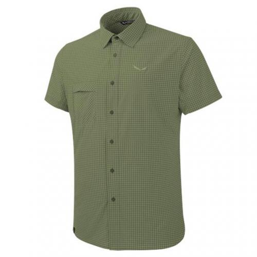 サレワ(SALEWA) PUEZ MINI CHECK DRY M S/S SHIRT 26587 5758 M MINI CHECK C.OLIVE メンズ 半袖シャツ(Men's)
