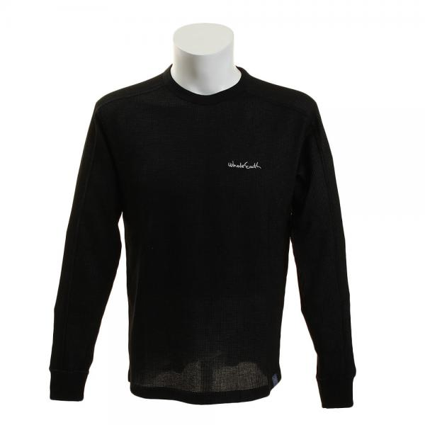 ホールアース(Whole Earth) THERMAL CREW WEFDAD02 BLK(Men's)
