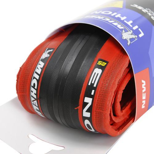 ミシュラン(Michelin) LITHION.3 リチオン 700X25C(25-622) 2057030081095 REDチューブタイヤ サイクルパーツ