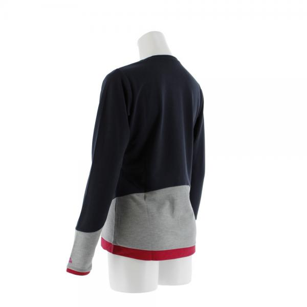 マーモット(Marmot) ボトムカラー ロングスリーブクルー 長袖Tシャツ PH762TL63-NV(Lady's)