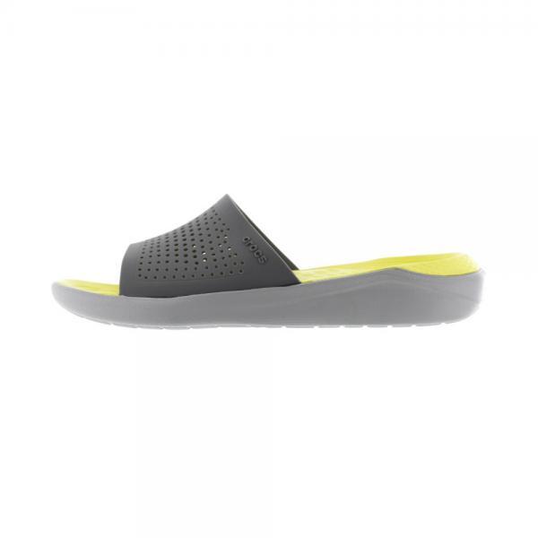 クロックス(crocs) ライトライド スライド サンダル literide slide Gry 205183-0DV(Men's)