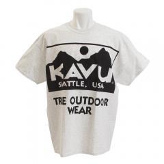 カブー(KAVU) ビッグロゴTシャツ Ash 19821059023009(Men's)