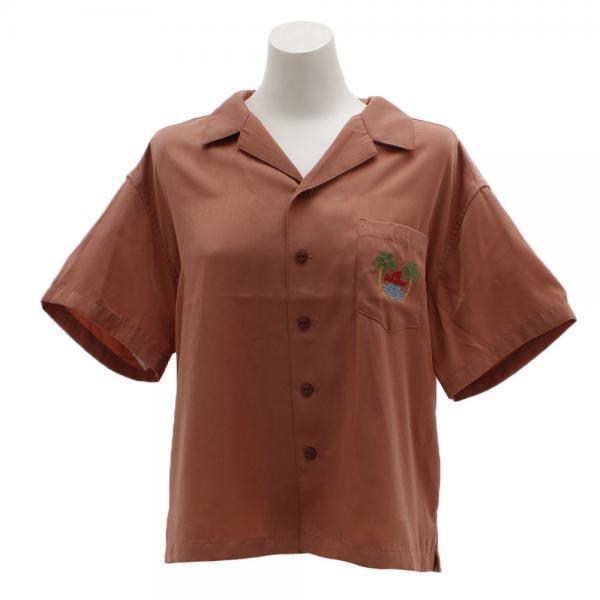 パワー・トゥ・ザ・ピープル(POWER TO THE PEOPLE) 刺繍開衿シャツ 9512517-15PNK(Lady's)