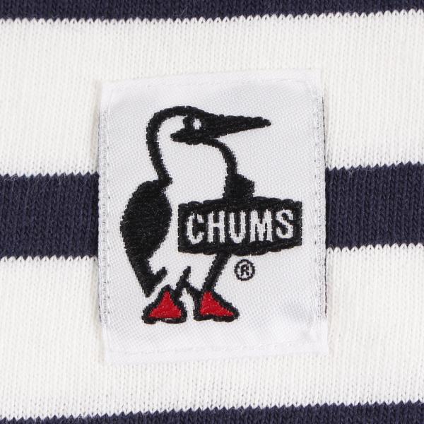 チャムス(CHUMS) ブービーロゴTシャツ CH01-1326 White/Navy(Men's)