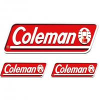 コールマン(Coleman) 3PCS オフィシャルステッカー 2000010524 UV加工ロゴ(Men's、Lady's)