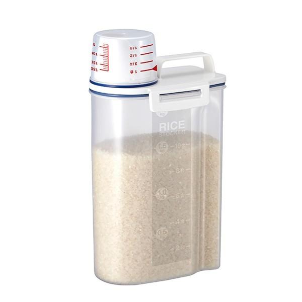 米びつ 密閉米びつ 2kg 計量カップ付き