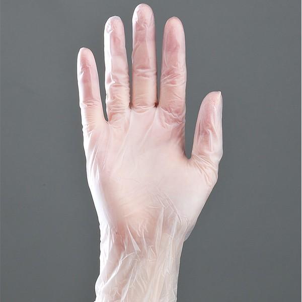 ビニール手袋 100枚 薄手 食品対応 Lサイズ ( 作業手袋 業務用 ビニール ダンロップ 掃除 園芸 調理 ダンロップ )