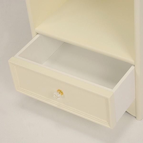 10%OFFクーポン対象商品 ハンガーラック 引出し付 姫系 ロマンチック 幅45cm  クーポンコード:KZUZN2T