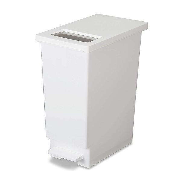 ゴミ箱 ペダル 分別 ユニード プッシュ&ペダル 45リットル 45S ホワイト